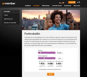 Skjermbilde fra Re:Member Lev sine hjemmesider