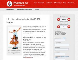 Voluntas-skjermbilde