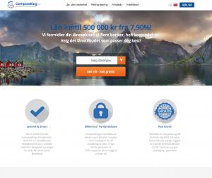 Hjemmesiden til CompareKing